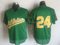 Men's Oakland Athletics Rickey Henderson Mitchell & Ness Green 1998 Cooperstown Mesh Batting Practice Jersey