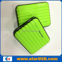 Colorful suitcase power bank, 12000mah luggage cases power bank charger for ipad/Samsung luggage carrier power bank
