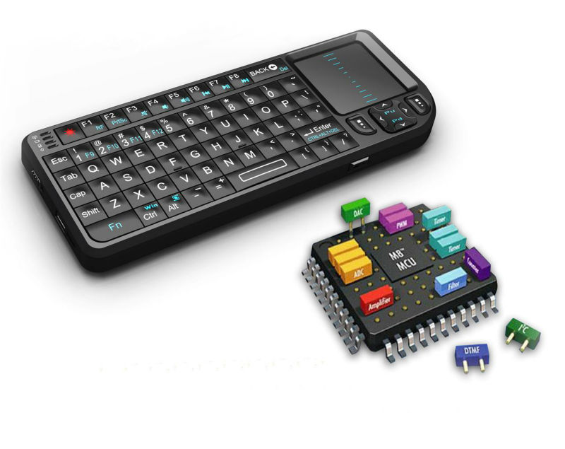 Handheld Portable 2.4ghz Wireless Mini Keyboard for Android Mac Windows and Linux PC