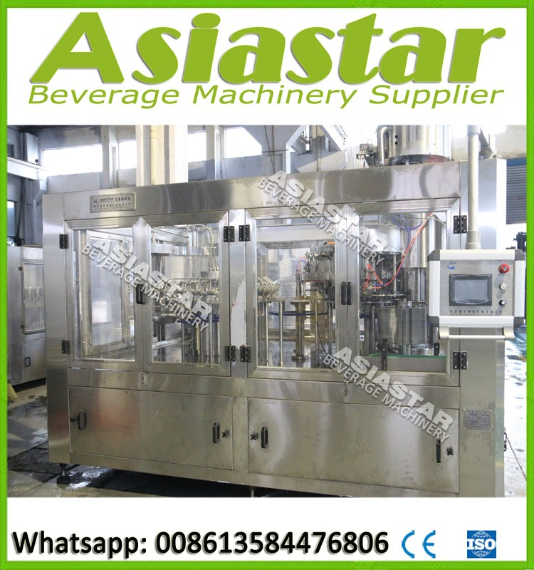 Automatic carbonated beverage filling machine plant