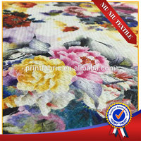 Shaoxing supplier high quality tweed print wool fabric