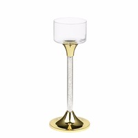 3 in 1 Crystal Long-stemmed Glass Tealight Candle Holder for Wedding Decoration