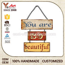 2016 Hottest Big Price Drop Decorative Metal Sign Board