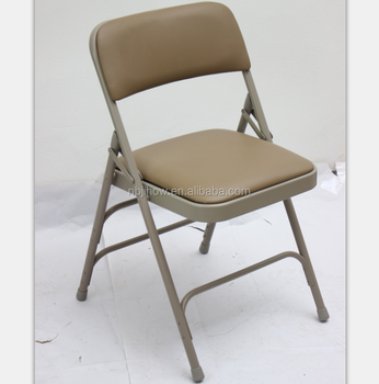 comfortable metal steel frame folding chair with pad