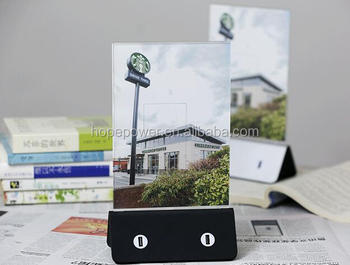 2017 Trending Product 4 USB Ports Table Stand Restaurant Holder Menu Power Bank For cellphone