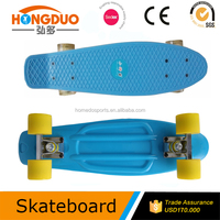 skateboard with fiberglass skateboard deck