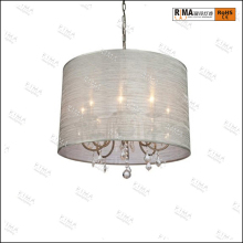 8light antique brass pendant lamp with hanging crystal chandelier