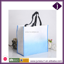Promotional White Ink Print Colorful Summer Tote Shopping Bag Recycle PP Woven Bag