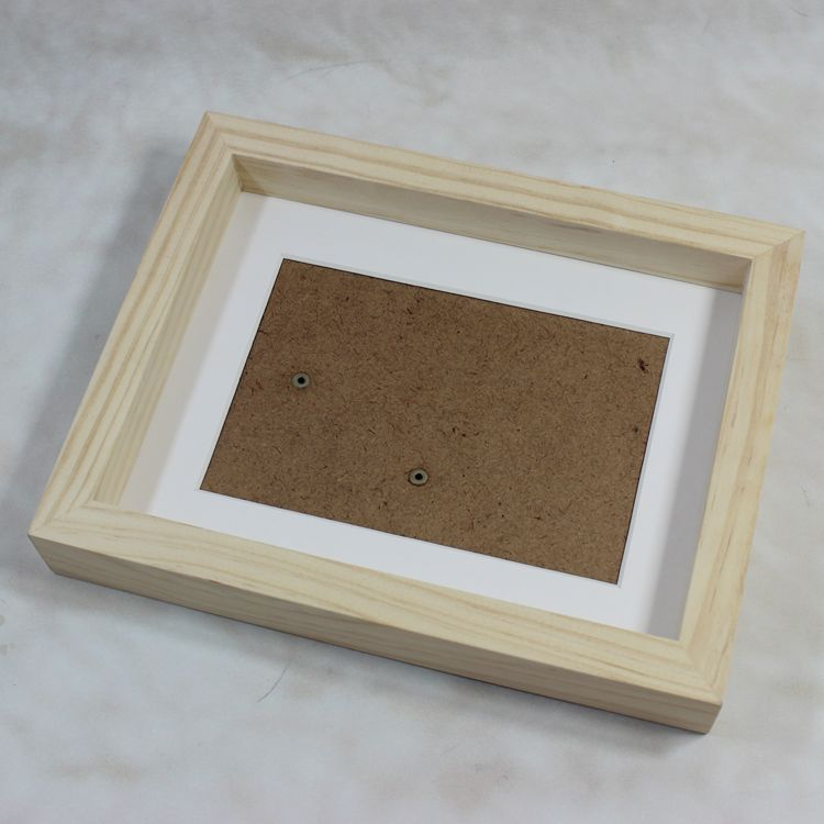 Magnetic Natural 3D Deep Wood Shadow Box Photo Picture Frame