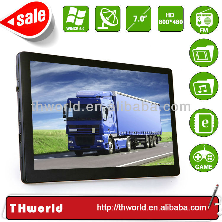 Spring sale 7 inch car gps with latest UK truck map software