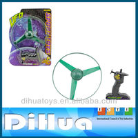 Hot Sell Plastic Pull Line Spinning Flying Disc Toy