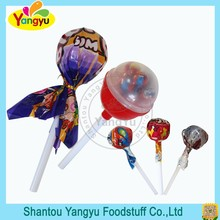 Plastic big ball lollipop with small round lolly