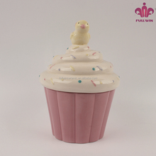 Wholesale Factory Manufacture Ceramic Easter Chick Covered Cupcake Candy Box Wholesale
