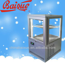 Counter top Four sided glass show case cooler display fridge,dessert,sandwich display/bakery showcase cooler BR41