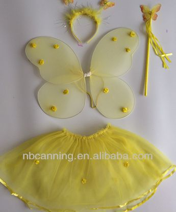 cute butterfly wing/ baby carnival fairy wing/angle wing costume set hot selling