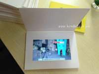 Video acrylic table within print cards with TFT LCD screen for business only high quality
