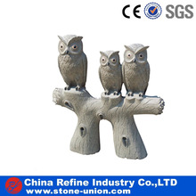 Hot sale outdoor granite animal owl sculptures