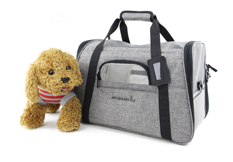 Linen soft air-mesh Small Pet Carrier Cat Bag Designer for Puppy Dog Transport Carriers Shopping Walking Pet Bags outdoor