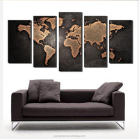digital printed canvas painting colorful World Map wall art canvas printing