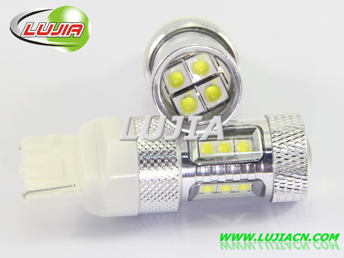 China car strobe light auto 7440 led bulbs 80w T20 led car light bulbs car accessories