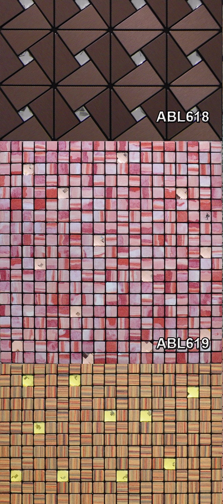 Modern kitchen building materials Set drill metal mosaic tile bathroom design home decoration mosaics tile china supplier ABL06