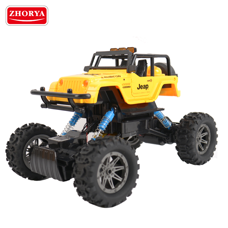 Zhorya children high speed plastic off road crawler rc 4x4 jeep car toy for sale