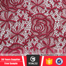 High quality cheap price new red polyester nylon tulle lace fabric wholesale