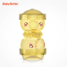 Babybetter Baby Portable Food Storage Infant Milk Powder Box Two-layer Octopus Style Food Container Puzzle Feeding Box
