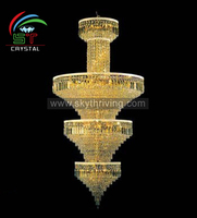 3 tier modern hotel lobby chandelier light