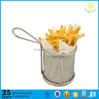 Stainless steel304 fried basket mini french fry basket, colander strainer basket(MADE IN CHINA)