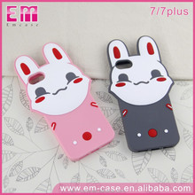 Latest Cute Rabbit Soft Case for iPhone/for iPhone 7 Lovely Animal Silicone Case Cover/Rabbit Silicone Mobile Phone Case