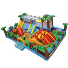 new design dinosaur inflatable playground fun city, giant inflatable amusement park games for kids