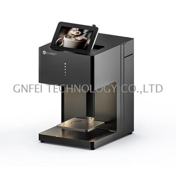 Photo latte art coffee printer machinary of small industries