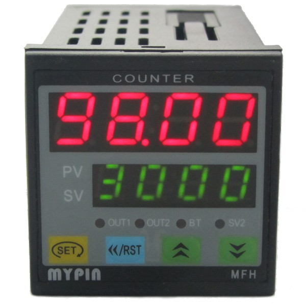 24V 4 Digit Red LED Counter Meter Panel+Waterproof Proximity Switch Sensor PNP