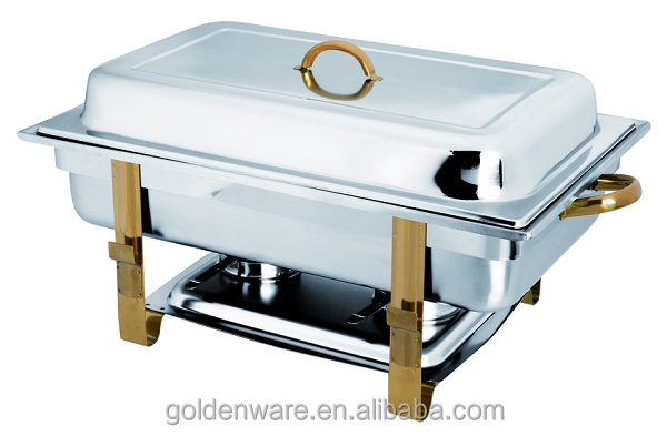 2018 Most Popular Creative Best Sell chafing dish with golden legs