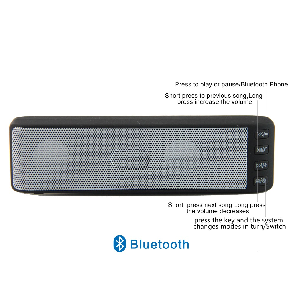 Cheap speaker mobile phone ,audio player ,computer used ,portable mini wireless bluetooth speaker (HL-06)