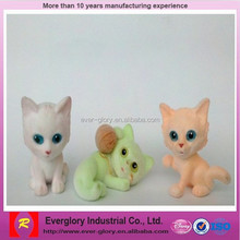 OEM factory Mini Flocking plastic toys, small plastic animal toys