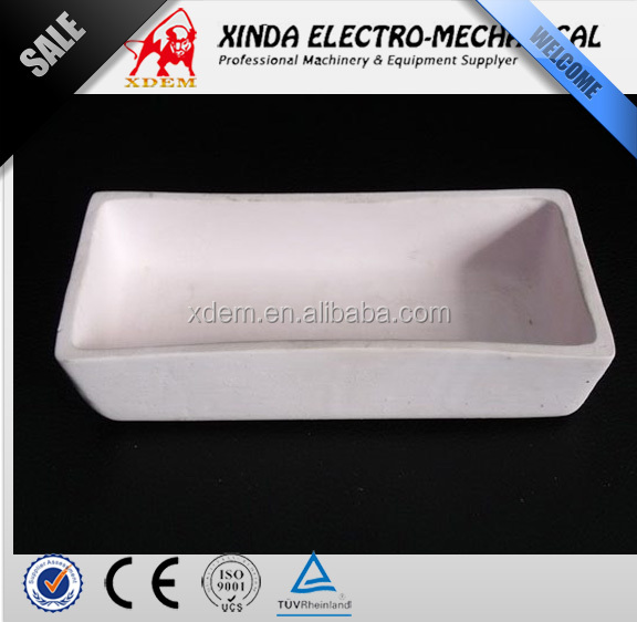 High temperature alumina ceramic crucible,high purity corundum crucible boat