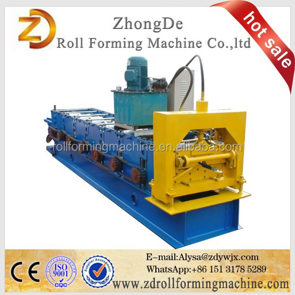 Galvanized Ridge Roofing Sheet / Cap Gutter Roll Forming Machine
