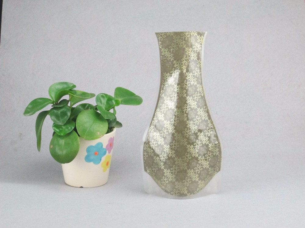 2017 Hot Sale plastic flower clear vase/ Tall Plastic Flower Vases/Folding plastic custom flower vase