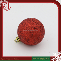 New Products 2016 Red Plastic Christmas Ball Hanging Decoration Christmas Baubles