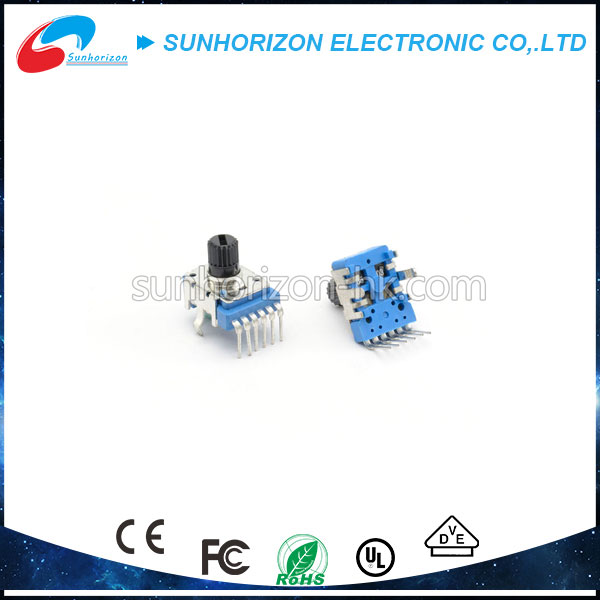 11mm dual gang rotary potentiometer b20k 6 pin with plastic shaft