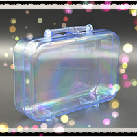GPPS Transparent Fillable Suitcase Shape Candy Container with Handle
