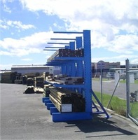 Heavy equipment cantilever rack for long pipe