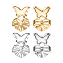 BUYEE Magic Bax Earring Backs Support Earring Lifts Hypoallergenic Fits all Post Earrings 18K Gold Plated Copper Alloy