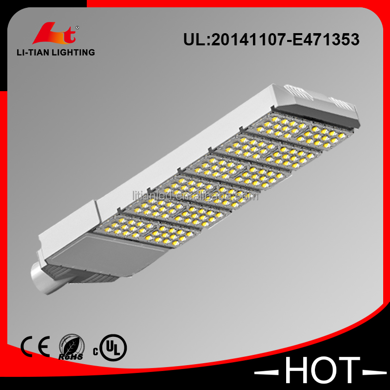 Black Aluminum housing great heat conduction UL DLC certificative list LED street light