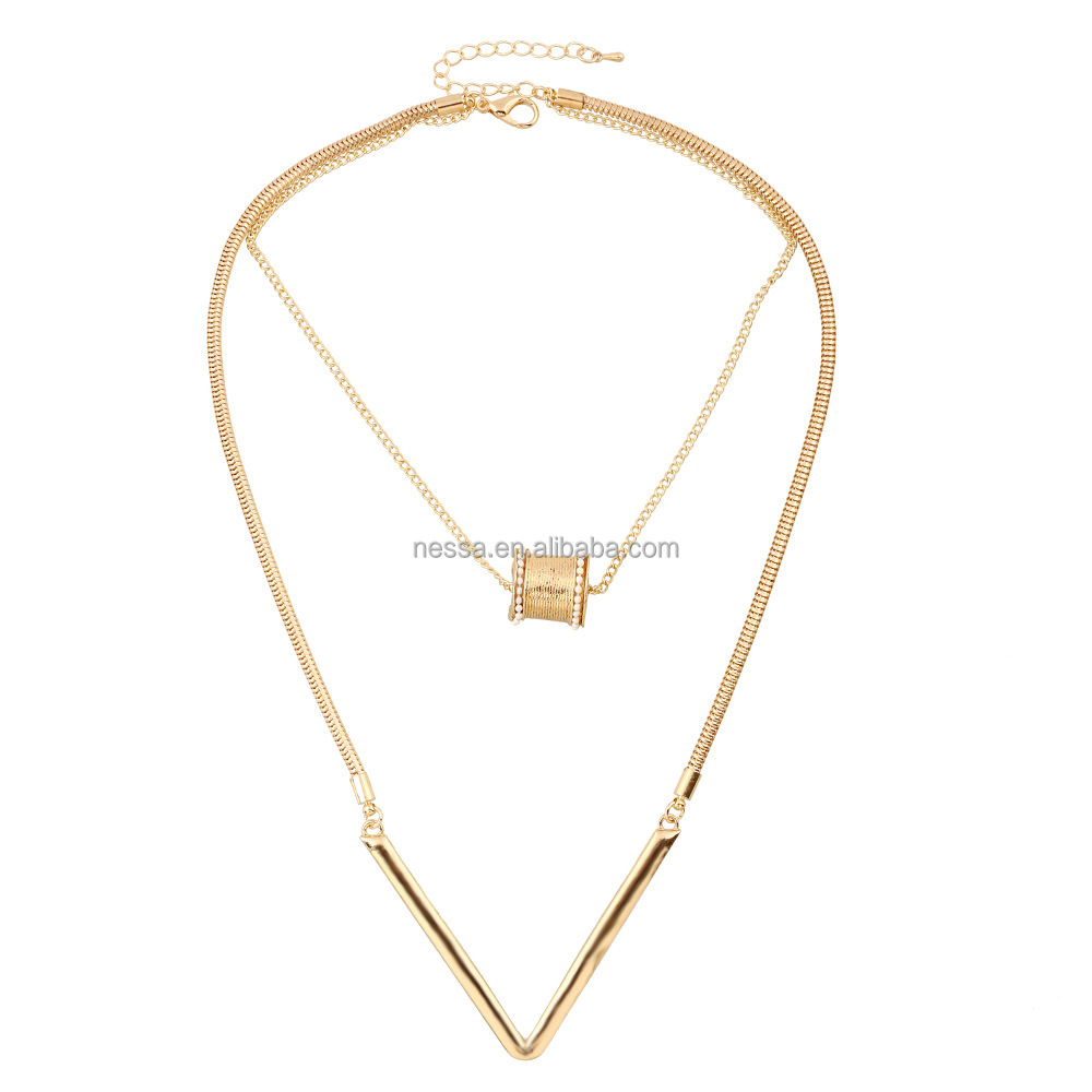 Fashion fake gold jewelry necklace wholesale NS-NZ0532