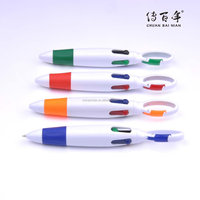 Wholesales promotional fat body four color ball pen