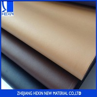 Hot selling good quality goat grain effect pu synthetic leather for shoe lining