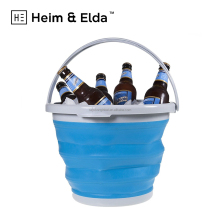 Wholesale Custom Cheap Foldable Collapsible Wine Champagne Beer Ice Bucket For Red Bull